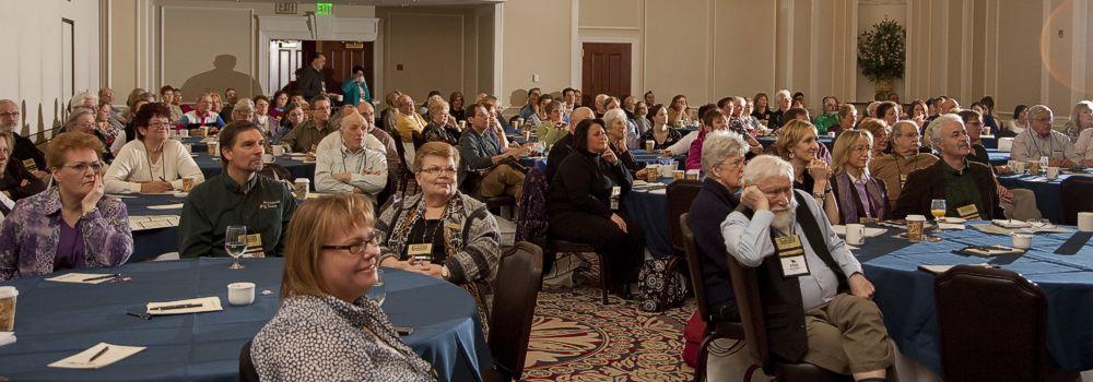 View of crowd during seminar
