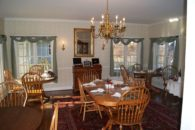 View of dining room table.