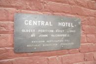 View of historic sign.